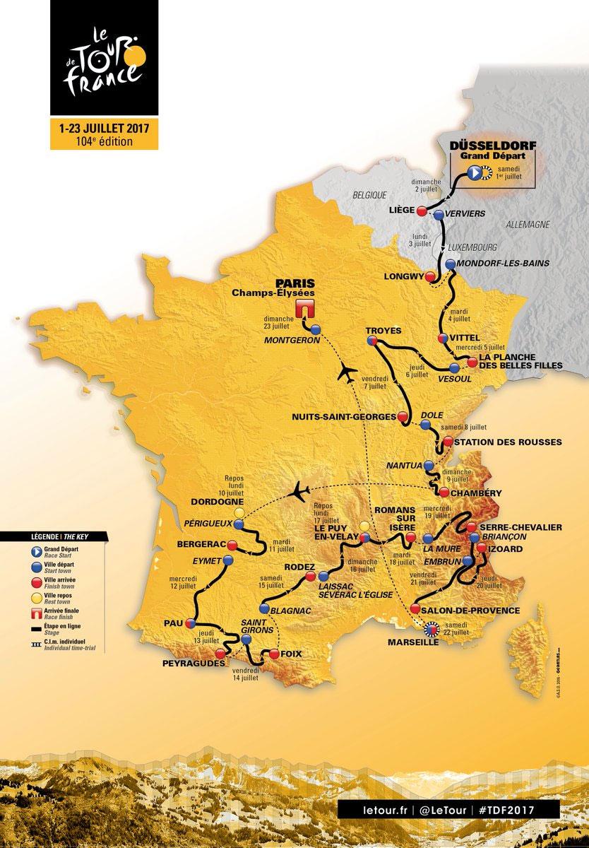 tour de france 2017 etappes